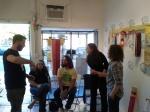 at Saturday's artist talk